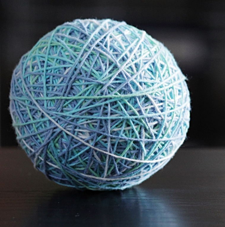 variegated yarn ball